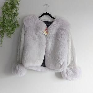 (Fashionable) Jennifer Furry Pale Purple Jacket M